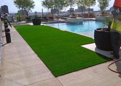 pool side artificial turf